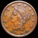 1842 Braided Hair Large Cent LIGHTLY CIRCULATED
