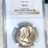 1958 Franklin Half Dollar NGC - MS66