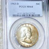 1963-D Franklin Half Dollar PCGS - MS64