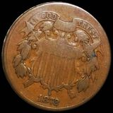 1872 Two Cent Piece NICELY CIRCULATED