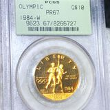 1984-W $10 Olympic Gold Coin PCGS - PR67 1/2Oz
