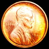 1909 V.D.B. Lincoln Wheat Penny UNCIRCULATED RED