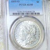 1895-O Morgan Silver Dollar PCGS - AU55