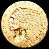 1915 $5 Gold Half Eagle UNCIRCULATED