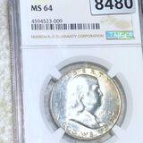 1962 Franklin Half Dollar NGC - MS64