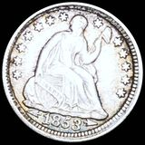 1853 Seated Liberty Half Dime ABOUT UNC