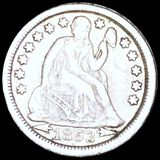 1853 Seated Liberty Dime NEARLY UNCIRCULATED