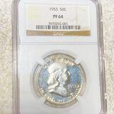 1953 Franklin Half Dollar NGC - PF64