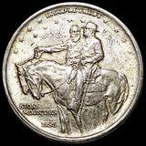 1925 Stone Mountain Half Dollar CLOSELY UNC