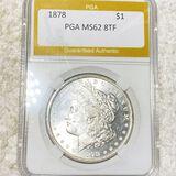 1878 8TF Morgan Silver Dollar PGA - MS62