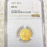 1927 $2.50 Gold Quarter Eagle NGC - MS61