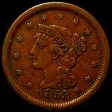 1853 Braided Hair Large Cent LIGHTLY CIRCULATED