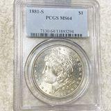1881-S Morgan Silver Dollar PCGS - MS64