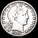 1909-S Barber Half Dollar NICELY CIRCULATED