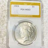 1923 Silver Peace Dollar PGA - MS63