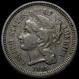 1865 Three Cent Nickel LIGHTLY CIRCULATED