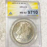 1891-O Morgan Silver Dollar ANACS - MS62