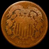 1864 Two Cent Piece NICELY CIRCULATED