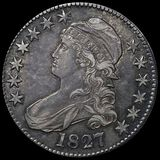 1827 Capped Bust Half Dollar LIGHTLY CIRCULATED