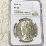 1928 Silver Peace Dollar NGC - MS61
