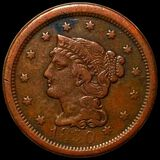 1850 Braided Hair Large Cent LIGHTLY CIRCULATED