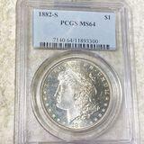 1882-S Morgan Silver Dollar PCGS - MS64