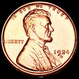 1924-D Lincoln Wheat Penny CHOICE BU RED