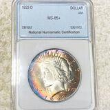 1922-D Silver Peace Dollar NNC - MS65+