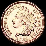 1863 Indian Head Penny UNCIRCULATED