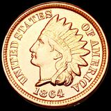 1864 Indian Head Penny CHOICE BU RED