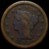 1848 Braided Hair Large Cent NICELY CIRCULATED