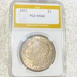 1921 Morgan Silver Dollar PGA - MS66