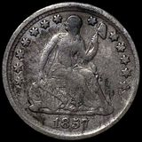1857 Seated Liberty Half Dime NICELY CIRCULATED