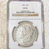 1893 Morgan Silver Dollar NGC - XF45