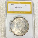 1900 Morgan Silver Dollar PGA - MS65