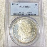 1891-CC Morgan Silver Dollar PCGS - MS62