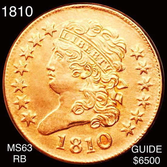 1810 Classic Head Half Cent CHOICE BU RB