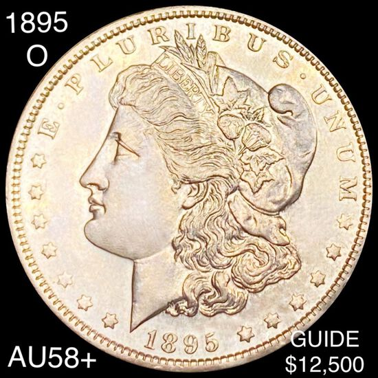 1895-O Morgan Silver Dollar CHOICE AU