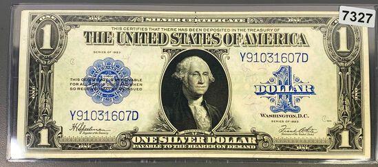 1923 US $1 Blue Seal Bill UNCIRCULATED