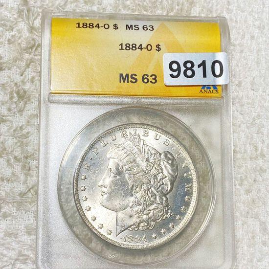1884-O Morgan Silver Dollar ANACS - MS63