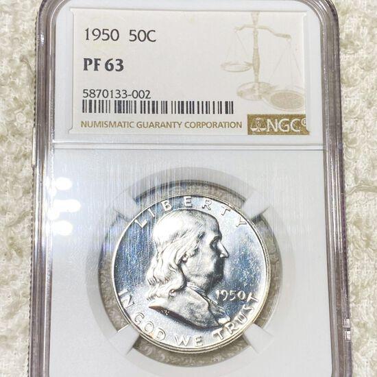 1950 Franklin Half Dollar NGC - PF63