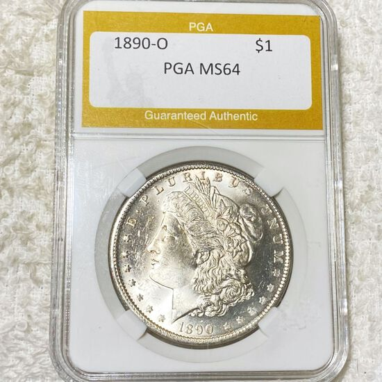 1890-O Morgan Silver Dollar PGA - MS64
