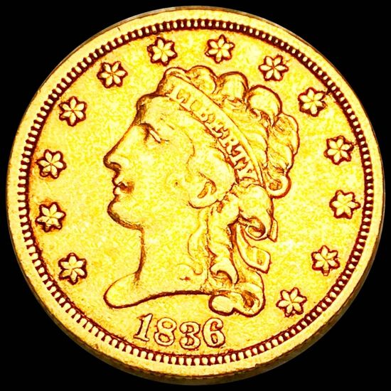 1936 $2.50 Gold Quarter Eagle ABOUT UNCIRCULATED