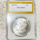 1878-S Morgan Silver Dollar PGA - MS63