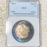 1881-O Morgan Silver Dollar NNC - MS64