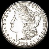 1884-S Morgan Silver Dollar ABOUT UNCIRCULATED
