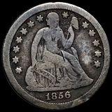 1856-O Seated Liberty Dime NICELY CIRCULATED