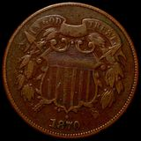 1870 Two Cent Piece NICELY CIRCULATED