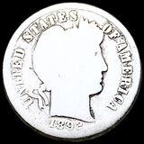 1892-S Barber Silver Dime NICELY CIRCULATED