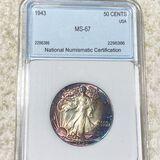 1943 Walking Half Dollar NNC - MS67